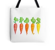 Cartoon Carrot Gradient  Tote Bag