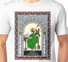 ST LAWRENCE under STAINED GLASS Unisex T-Shirt