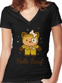 Hello Barf Women's Fitted V-Neck T-Shirt
