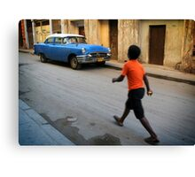 Street scene in Old Havana, Cuba Canvas Print