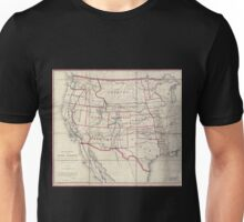 0082 Railroad Maps Map of routes for a Pacific railroad compiled to accompany the report of the Hon Jefferson Davis sec of Unisex T-Shirt