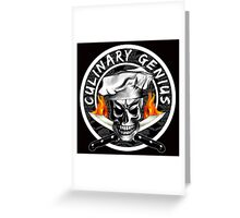 Skull Chef 3: Culinary Genius 2 Greeting Card