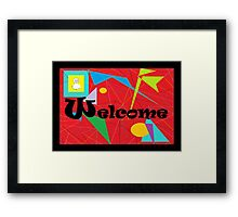 American Sign Language WELCOME Framed Print
