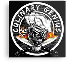 Skull Chef 5: Culinary Genius 2 Metal Print