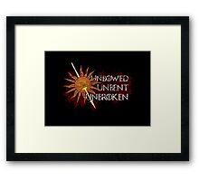 Unbowed Unbent Unbroken - House Martell Framed Print