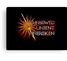 Unbowed Unbent Unbroken - House Martell Canvas Print