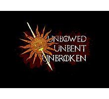 Unbowed Unbent Unbroken - House Martell Photographic Print