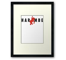 Harambe x Jumpman Framed Print