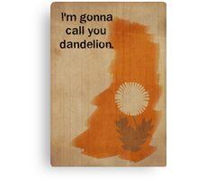 Orange is the New Black inspired design (Crazy Eyes - 2/2) Canvas Print
