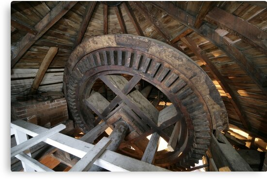 Cley Windmill machinery by cleywindmill