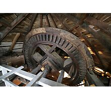 Cley Windmill machinery Photographic Print