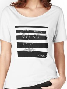 B&W Face  Women's Relaxed Fit T-Shirt