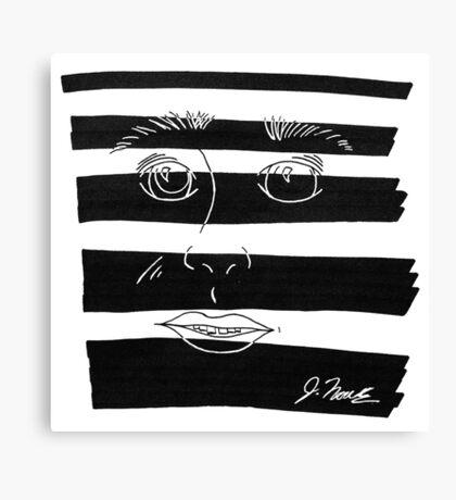 B&W Face  Canvas Print