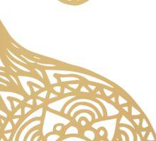 Gold Yin Yang Sticker