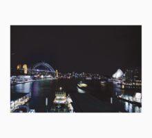 Sydney Harbour by night Kids Tee