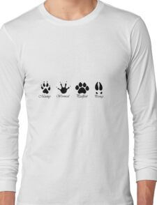 Moony, Wormtail, Padfoot and Prongs Long Sleeve T-Shirt