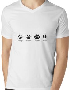 Moony, Wormtail, Padfoot and Prongs Mens V-Neck T-Shirt