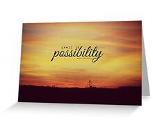Dwell Possibility Emily Dickinson Greeting Card