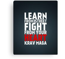 Learn from the street Krav Maga RED Canvas Print