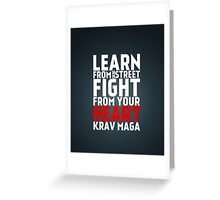 Learn from the street Krav Maga RED Greeting Card