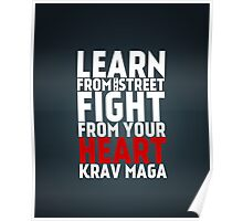 Learn from the street Krav Maga RED Poster