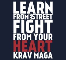 Learn from the street Krav Maga RED Kids Tee