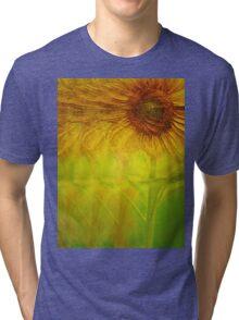 Growing Sunflower Tri-blend T-Shirt