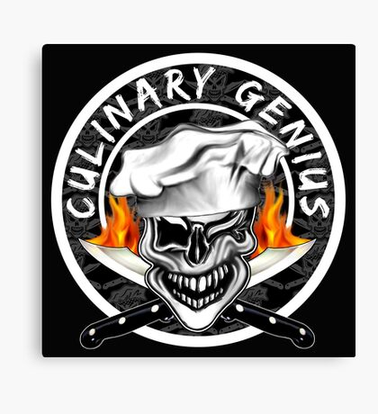 Skull Chef 7: Culinary Genius 2 Canvas Print