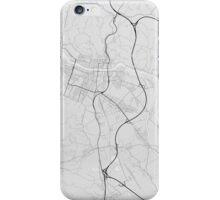 Maribor, Slovenia Map. (Black on white) iPhone Case/Skin