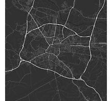 Ljubljana, Slovenia Map. (White on black) Photographic Print
