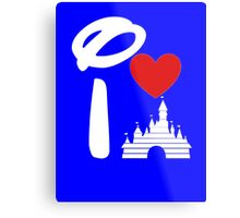 I Heart Castle (white) Metal Print