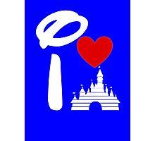 I Heart Castle (white) Photographic Print