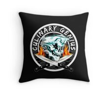 Skull Chef 8: Culinary Genius 2 Throw Pillow