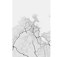 A Coruna, Spain Map. (Black on white) Photographic Print