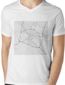Ljubljana, Slovenia Map. (Black on white) Mens V-Neck T-Shirt