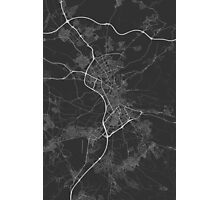Granada, Spain Map. (White on black) Photographic Print