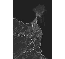 Las Palma, Spain Map. (White on black) Photographic Print