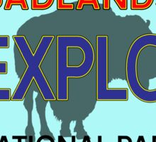 BADLANDS NATIONAL PARK LICENSE PLATE SOUTH DAKOTA BISON BUFFALO Sticker