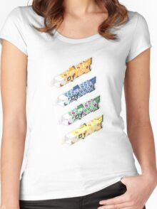 swimming in the sky Women's Fitted Scoop T-Shirt