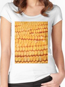 Corn - The Essence of Humanity Women's Fitted Scoop T-Shirt