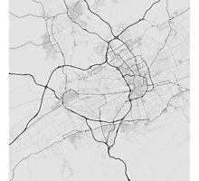 Murcia, Spain Map. (Black on white) Photographic Print