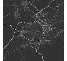 Murcia, Spain Map. (White on black) Photographic Print