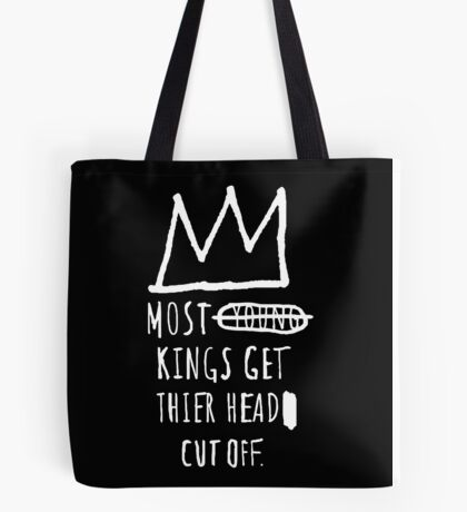 "Basquiat ""Young Kings"" Quote Tote Bag"
