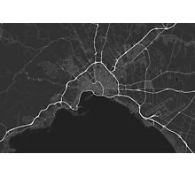 Palma, Spain Map. (White on black) Photographic Print