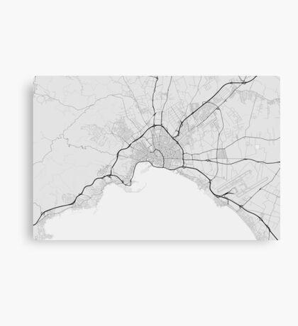 Palma, Spain Map. (Black on white) Canvas Print
