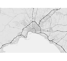 Palma, Spain Map. (Black on white) Photographic Print
