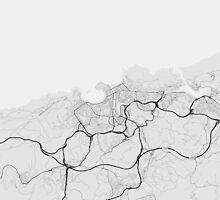 San Sebastian, Spain Map. (Black on white) by Graphical-Maps