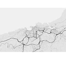 San Sebastian, Spain Map. (Black on white) Photographic Print
