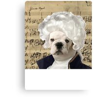 Mozart and Marie The Admiral Bulldog Composer Canvas Print