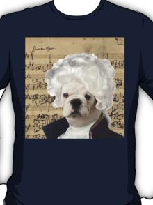 Mozart and Marie The Admiral Bulldog Composer T-Shirt